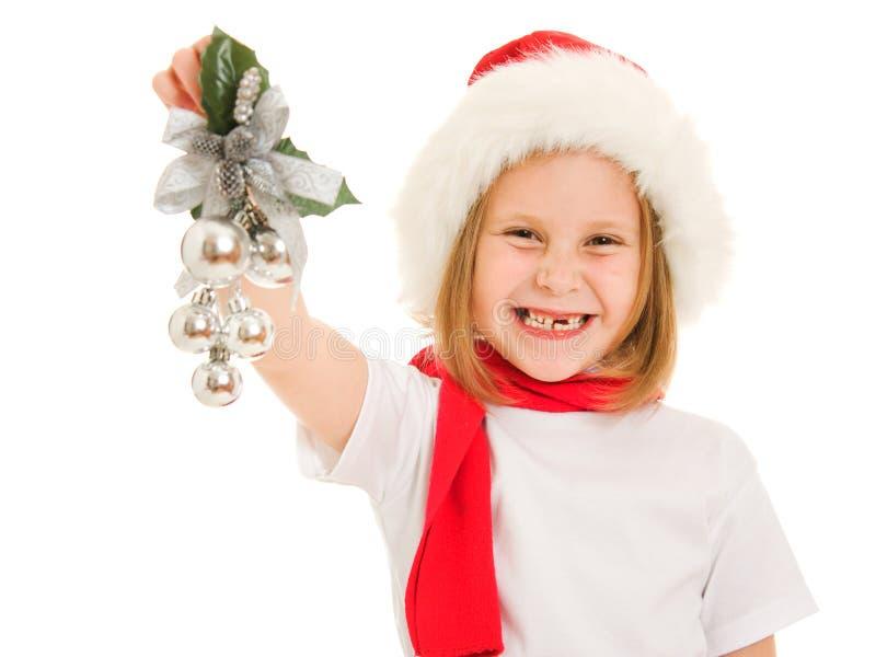 Het gelukkige kind van Kerstmis stock fotografie
