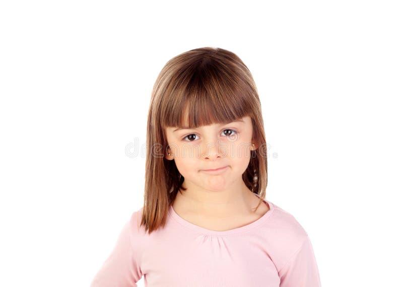 Het gelukkige kleine meisje glimlachen royalty-vrije stock foto