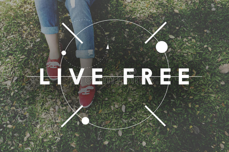 Het gelukkige Leven voelt Goed Geluk Live Concept royalty-vrije stock afbeeldingen