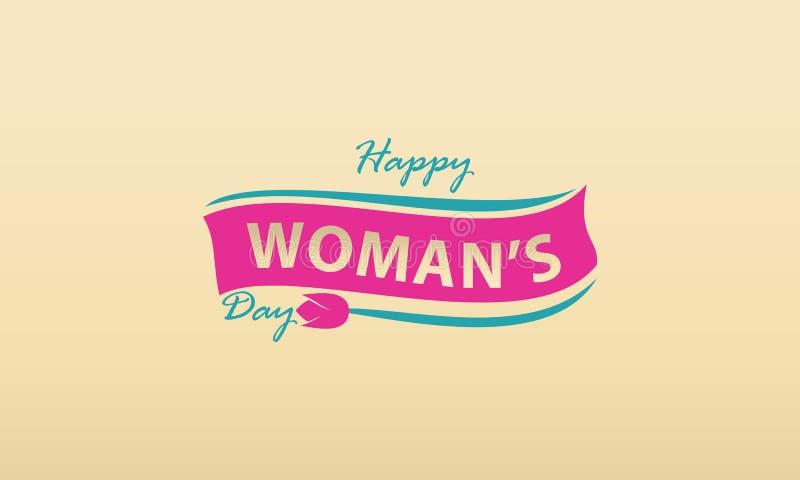 Het gelukkige Malplaatje van de Vrouwen` s Dag stock illustratie