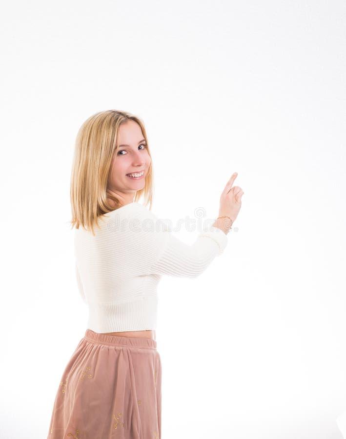 Het gelukkige meisje richten royalty-vrije stock fotografie