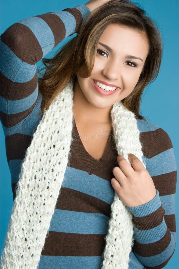 Het gelukkige Meisje van de Winter stock foto