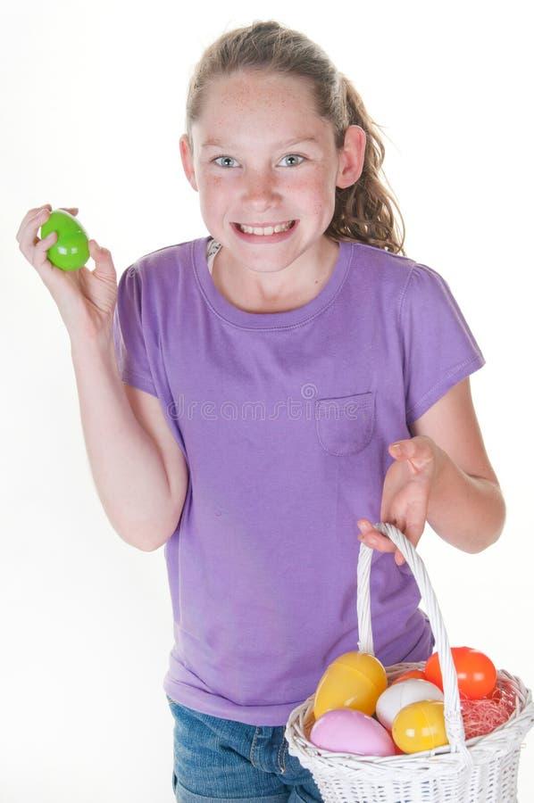 Het gelukkige meisje van Pasen royalty-vrije stock afbeelding