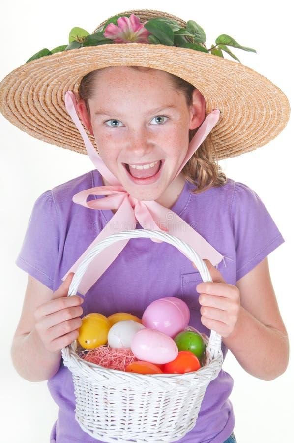 Het gelukkige meisje van Pasen royalty-vrije stock afbeeldingen