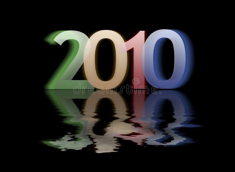 Het gelukkige nieuwe jaar van 2010 royalty-vrije stock foto