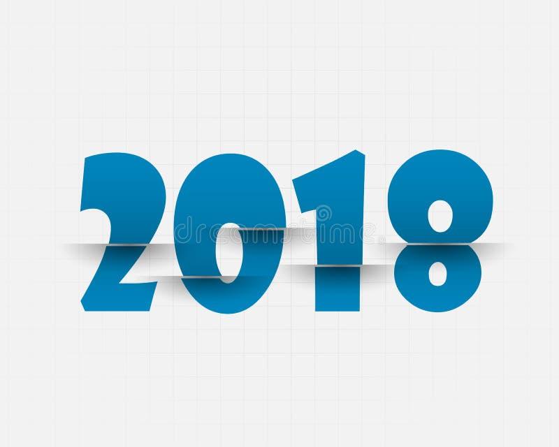 Het gelukkige Nieuwe Jaar van 2018 De kaart van groeten Kleurrijk ontwerp Vector vector illustratie