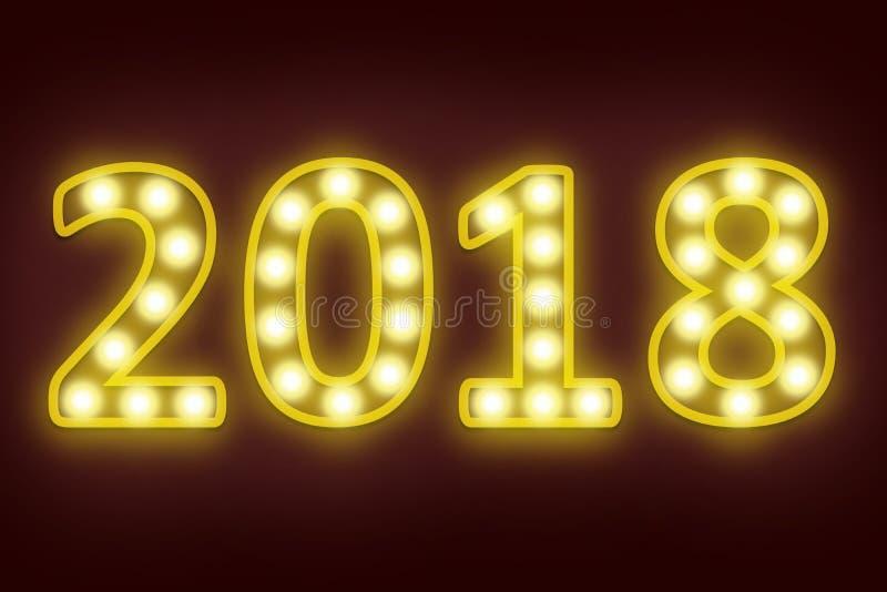 het gelukkige nieuwe jaar van 2018 voor seizoengebonden en vakantieachtergrond royalty-vrije stock foto's
