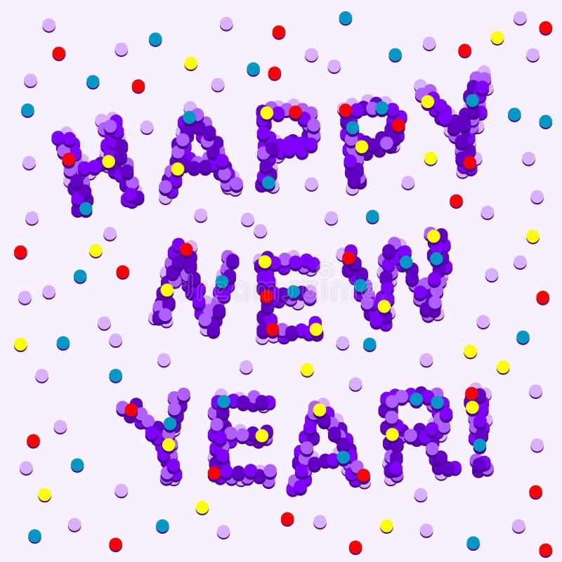 Het Gelukkige Nieuwjaar van confettien