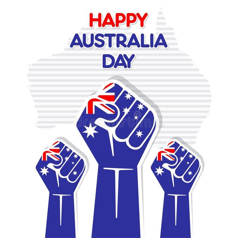 Het gelukkige ontwerp van de de daggroet van Australië royalty-vrije illustratie
