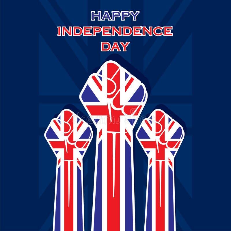 Het gelukkige ontwerp van de Onafhankelijkheidsdag verenigde staat vector illustratie