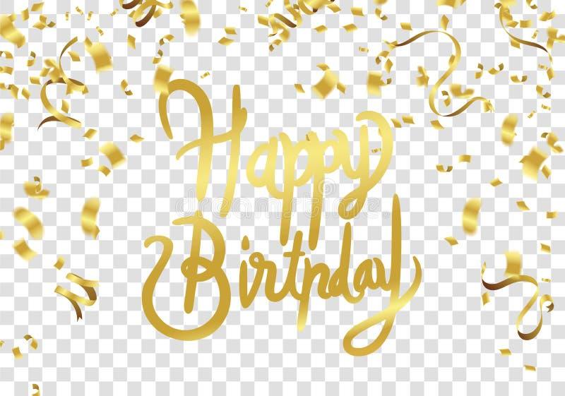 Het gelukkige ontwerp van de de partijdruk van de verjaardags vectorviering Handwritte vector illustratie