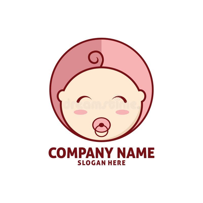 het gelukkige ontwerp van het het pictogramembleem van de babywinkel royalty-vrije illustratie