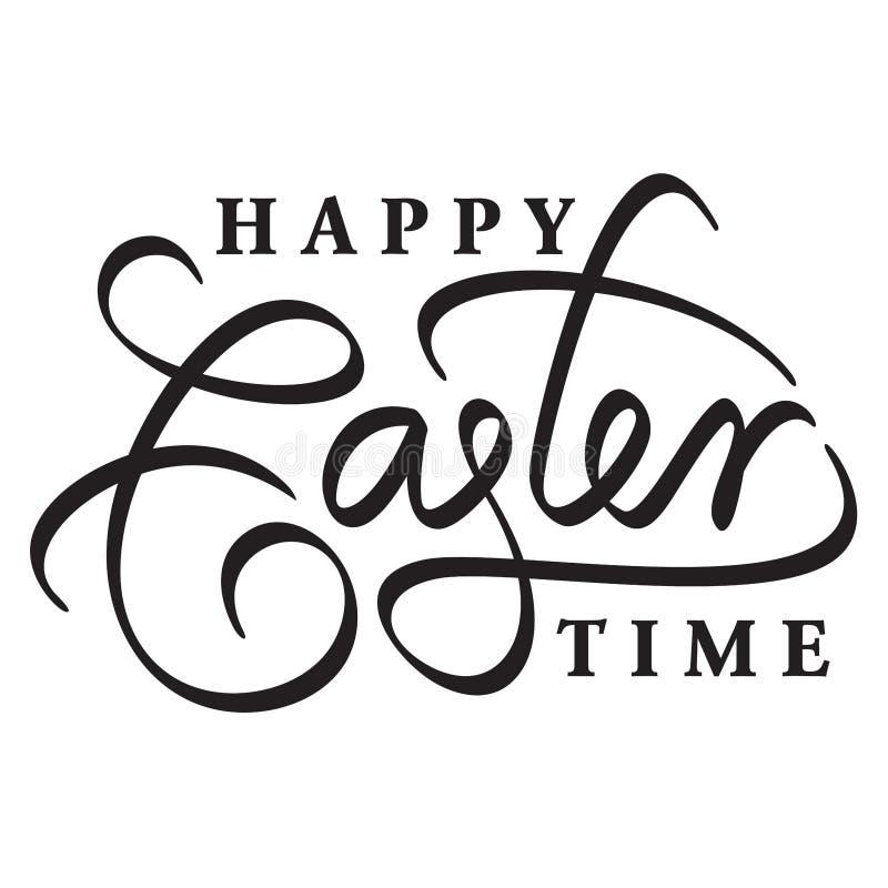 Het gelukkige Pasen-hand van letters voorzien vector illustratie