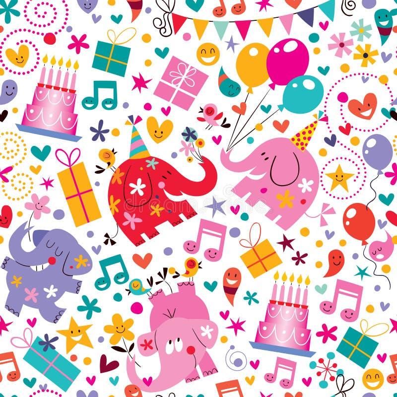 Het gelukkige patroon van de Verjaardag royalty-vrije stock afbeeldingen