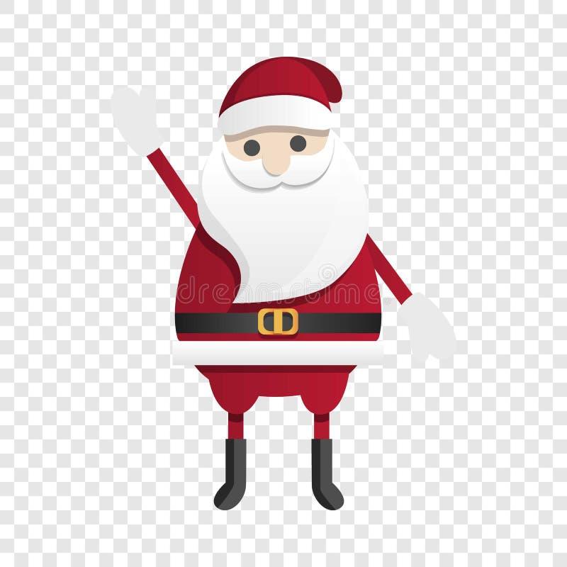 Het gelukkige pictogram van de Kerstman, beeldverhaalstijl royalty-vrije illustratie