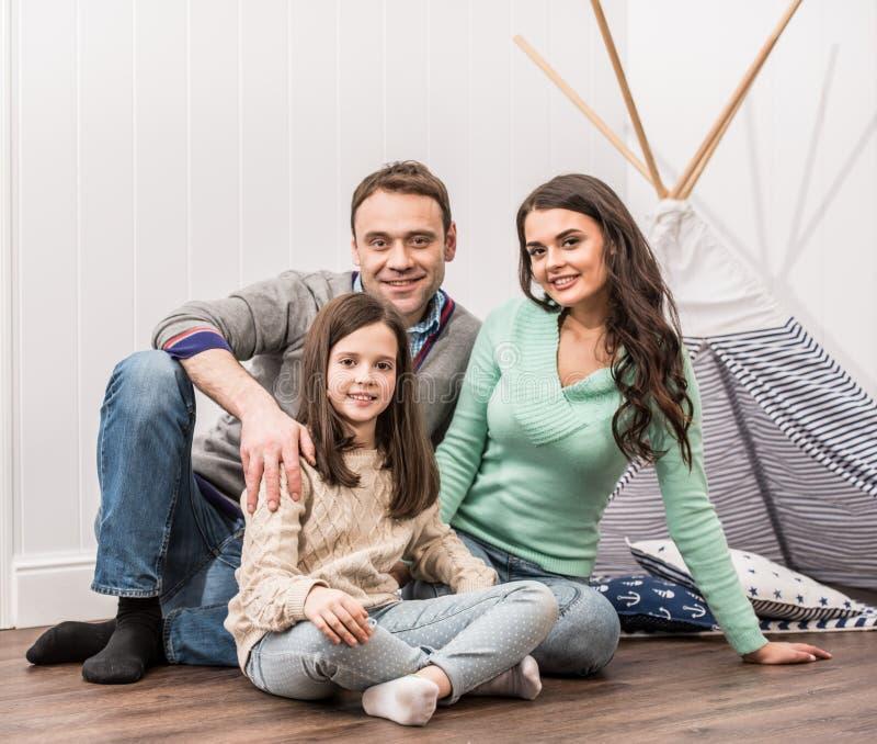Het gelukkige Portret van de Familie royalty-vrije stock foto's