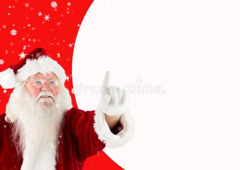 Het gelukkige richten van de Kerstman stock afbeelding
