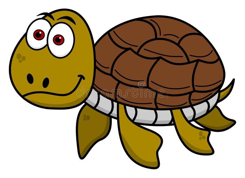 Het gelukkige schildpad zwemmen vector illustratie