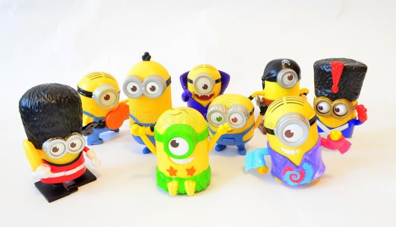 Het gelukkige speelgoed Kevin en Dave van familieminion stock afbeeldingen