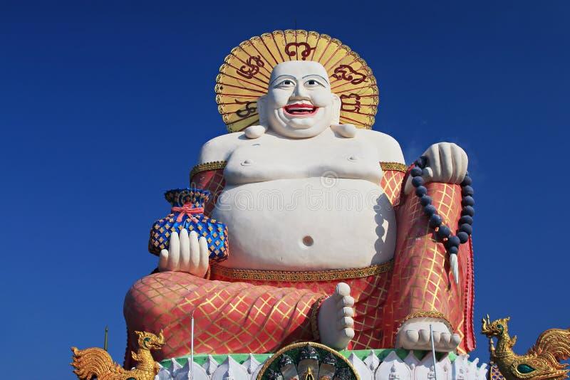 Het gelukkige standbeeld van Boedha royalty-vrije stock afbeelding