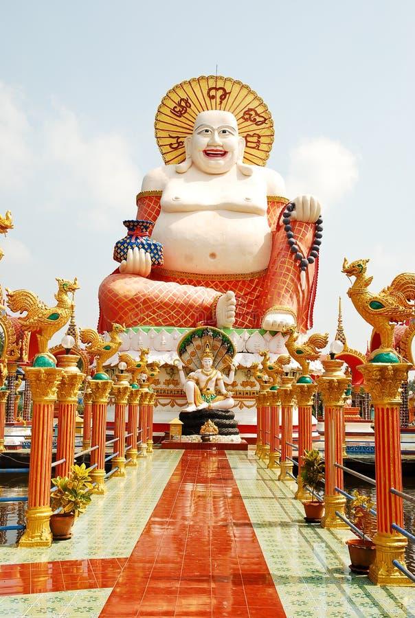 Het gelukkige Standbeeld van Boedha stock foto's