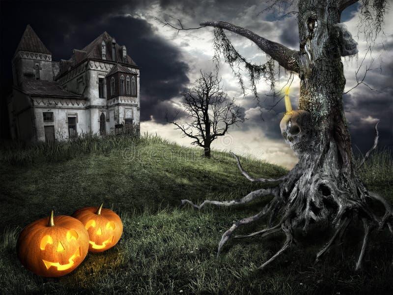Het gelukkige thema van Halloween stock illustratie
