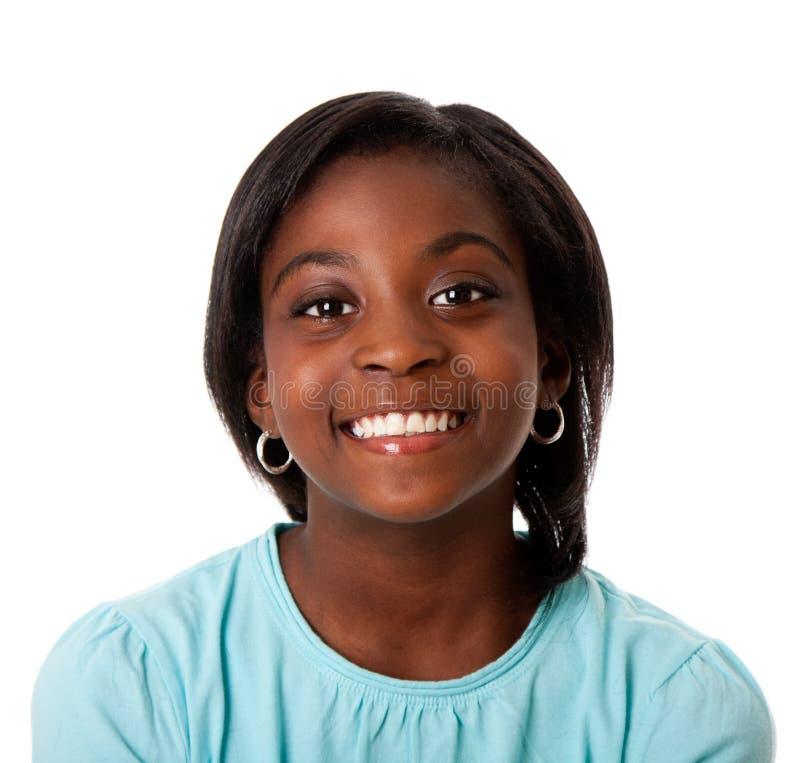 Het gelukkige tiener glimlachen royalty-vrije stock afbeeldingen