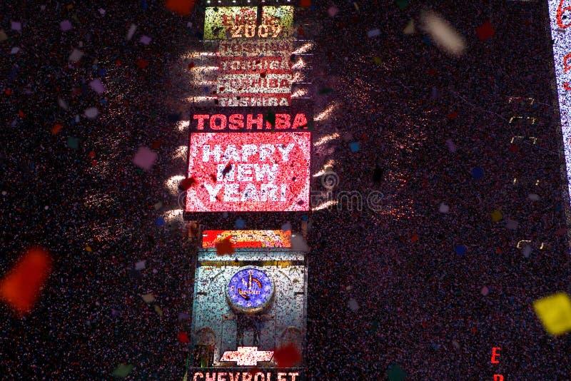 Het gelukkige Times Square van het Nieuwjaar royalty-vrije stock afbeeldingen