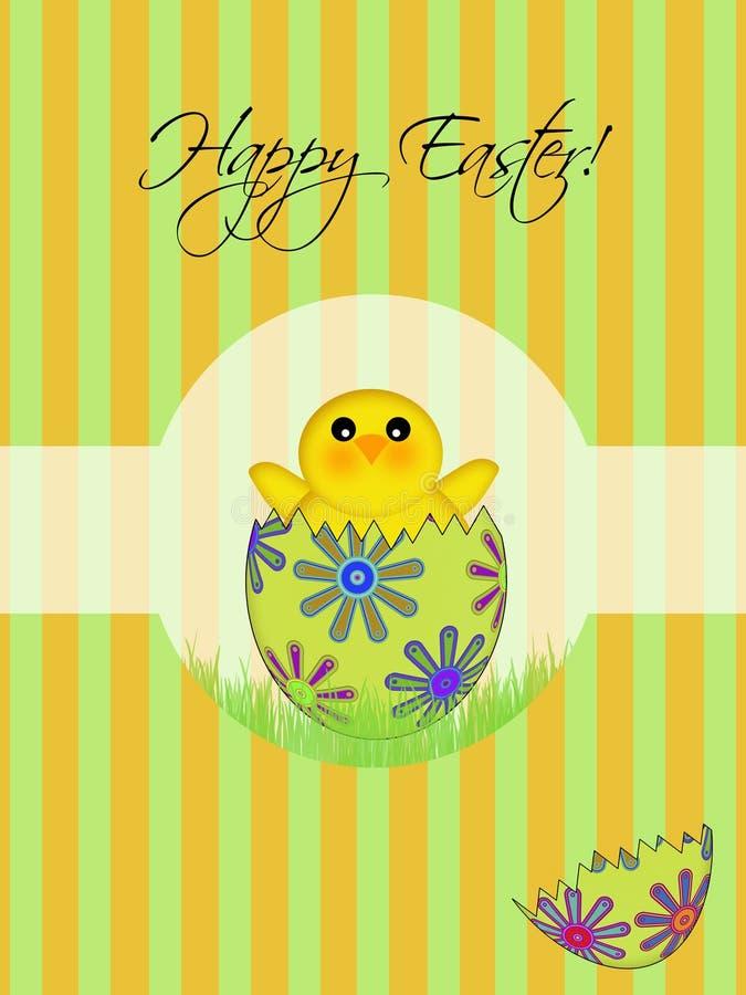 Het gelukkige Uitbroedende Ei van het Kuiken van Pasen stock illustratie