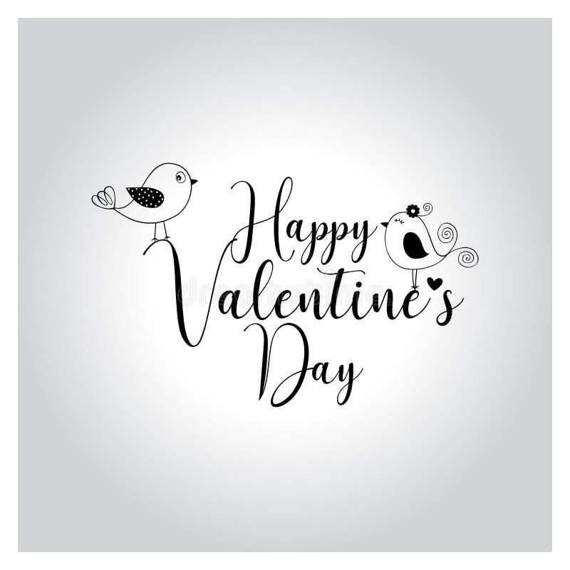 Het gelukkige valentijnskaartendag van letters voorzien, met de hand geschreven en kalligrafie vectorillustratie stock illustratie