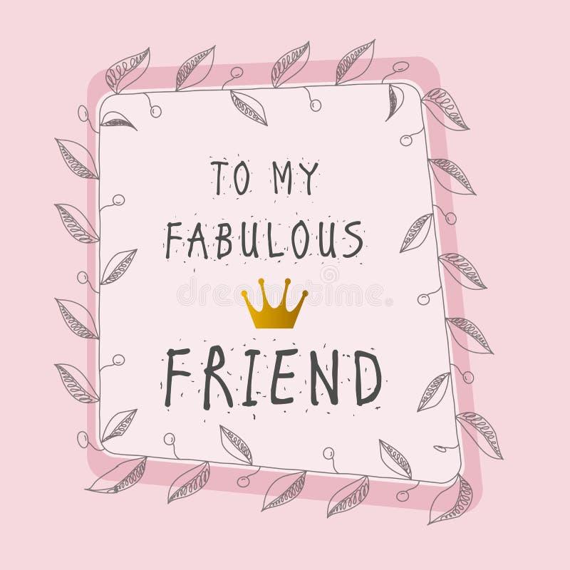 Het gelukkige vector typografische ontwerp van de Vriendschapsdag Inspirational FA vector illustratie