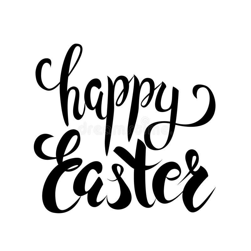 Het gelukkige vector van letters voorzien van Pasen vector illustratie