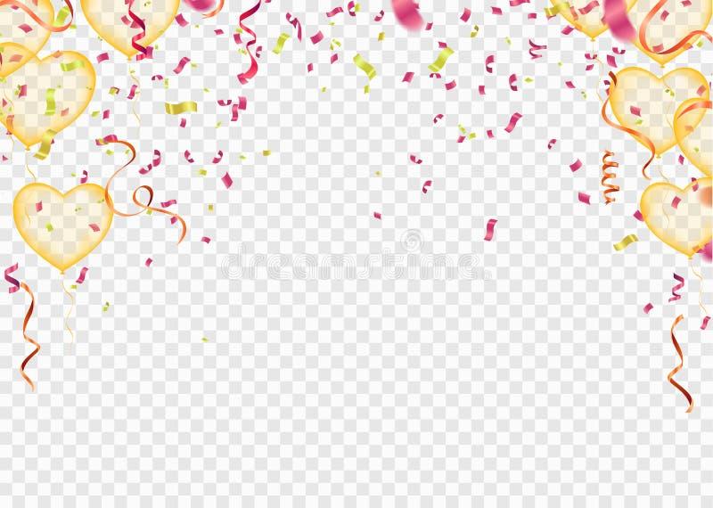 Het gelukkige vectorontwerp van de Verjaardagstypografie voor groetkaarten en affiche met ballon in de stijl van knipsels royalty-vrije illustratie