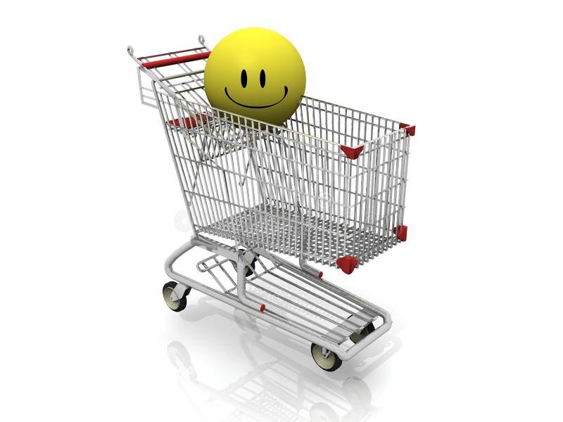 Het gelukkige winkelen vector illustratie