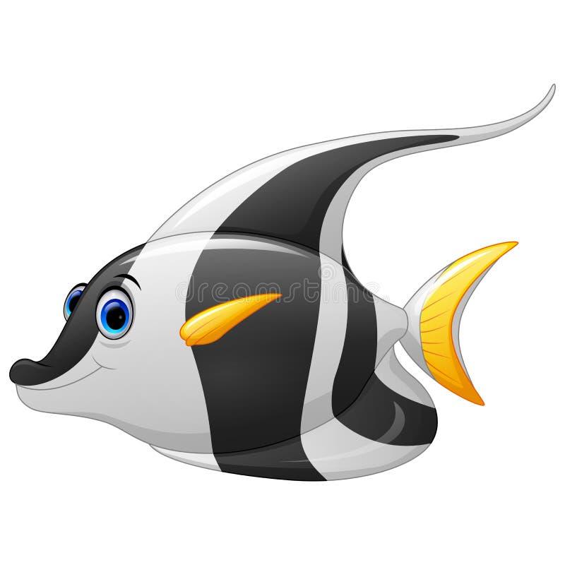 Het gemaskeerde beeldverhaal van bannervissen stock illustratie