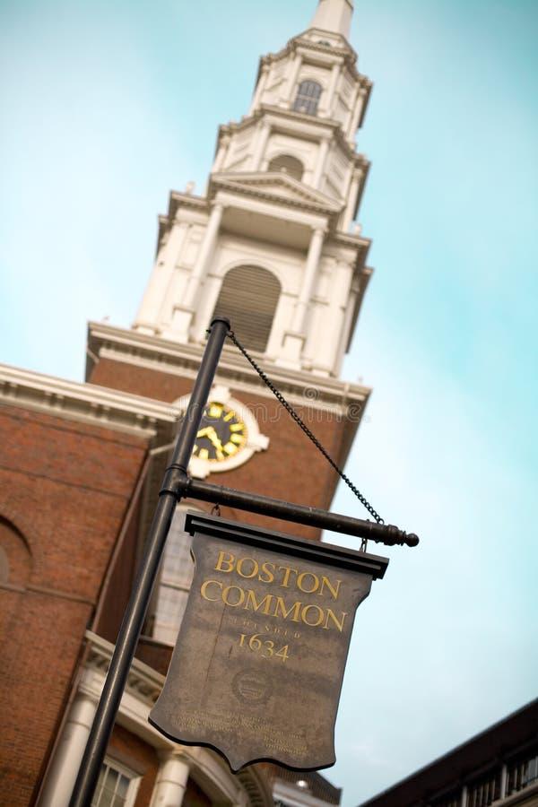 Het Gemeenschappelijke teken van Boston royalty-vrije stock foto's