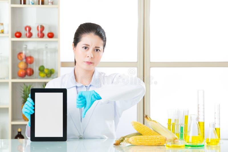 Het genetische modificatievoedsel is slecht voor menselijke gezondheden royalty-vrije stock foto's