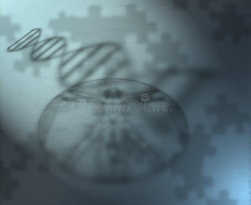 Het genetische raadsel stock illustratie