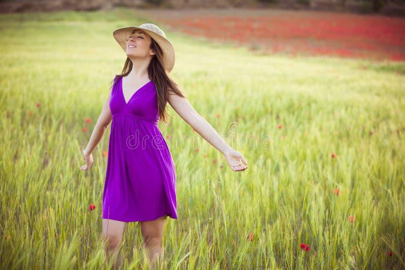 Het genieten van de van lente royalty-vrije stock foto's