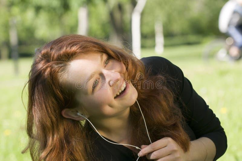 Het genieten van de van muziek royalty-vrije stock foto