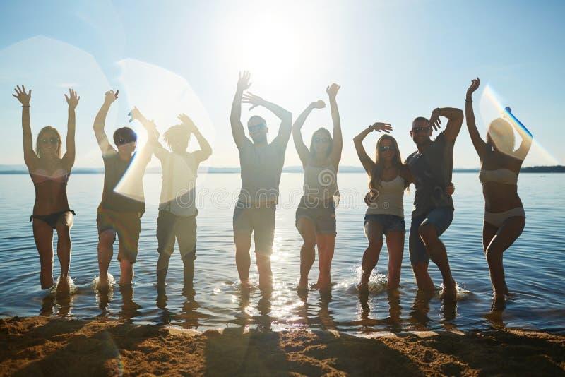 Het genieten van de van zomer stock foto's
