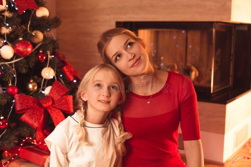 Het genieten van Kerstmis van tijd stock fotografie