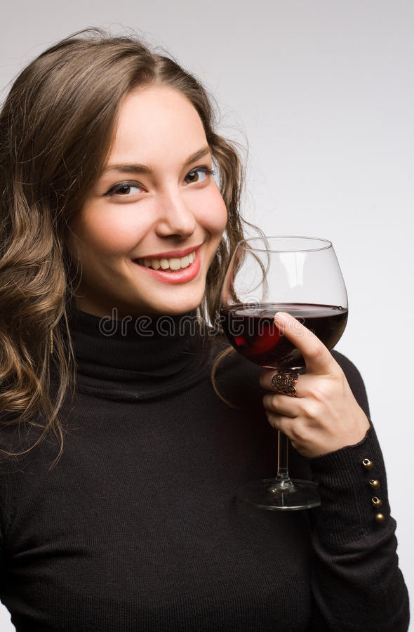 Het genieten van premie van wijn. royalty-vrije stock afbeelding