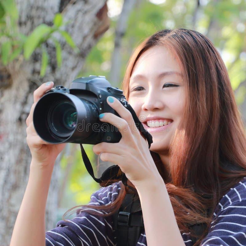 Het genieten van van fotografie stock afbeeldingen