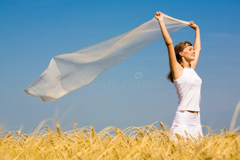 Het genieten van van wind stock foto's
