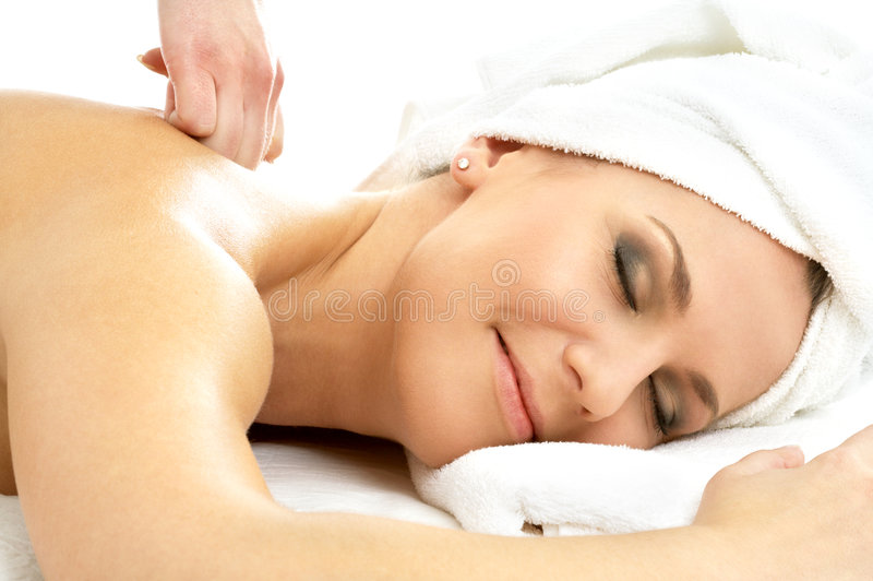 Het genoegen van de massage #2 stock foto