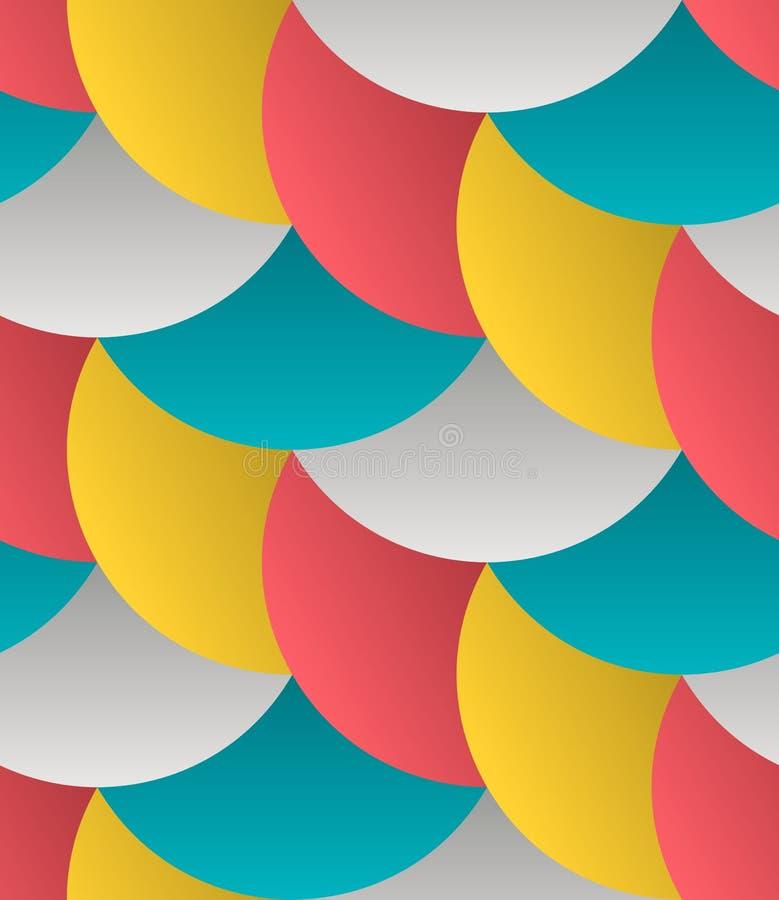 Het geometrische Abstracte Vector Naadloze Patroon van het Bloemblaadjesnet stock illustratie
