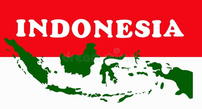Het geometrische conceptontwerp van Indonesië royalty-vrije illustratie