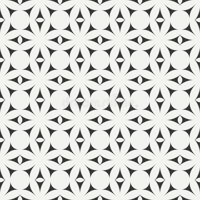 Het geometrische naadloze Arabische patroon van het lijn zwart-wit rooster Islamitische oosterse stijl Verpakkend document Plakbo vector illustratie