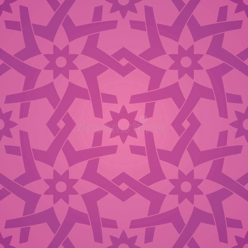 Het geometrische Naadloze Patroon van de Bloem van de Liefde vector illustratie